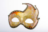 Golden mask, carnival mask — Foto Stock