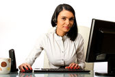 Business woman, secretary at work — Stock Photo