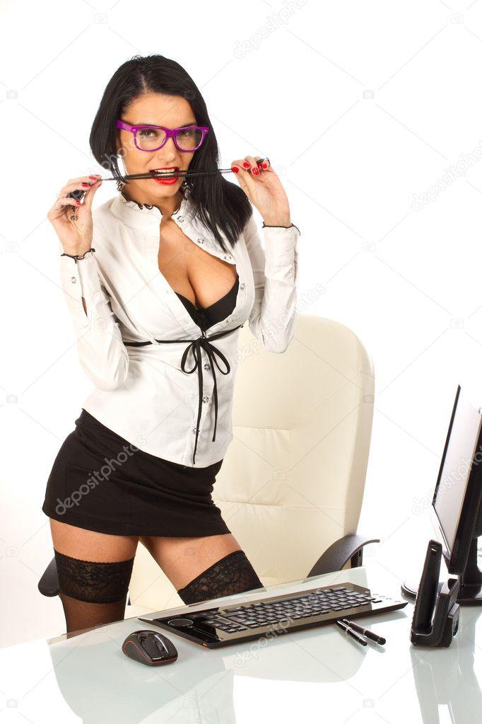 Secretarias en el trabajo masturvandose