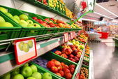 Fruit in the supermarket — Stock Photo
