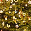 Christmas Tree Decoration. Abstract Background - Stock Photo