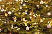 Vánoční strom dekorace. abstraktní pozadí — Stock fotografie