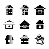 House symbols — Stock Vector