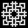 Vector de stock : Crossword grid