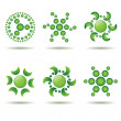 Set of green logo design elements — Stock Vector