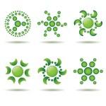 Set of green logo design elements — Stock Vector