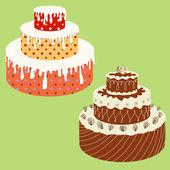 Vector cakes — Stock Vector