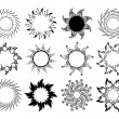 Set of sun symbols — Stock Vector #9383749