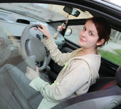 Teenage driver — Stock Photo
