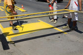 Straat markering — Stockfoto