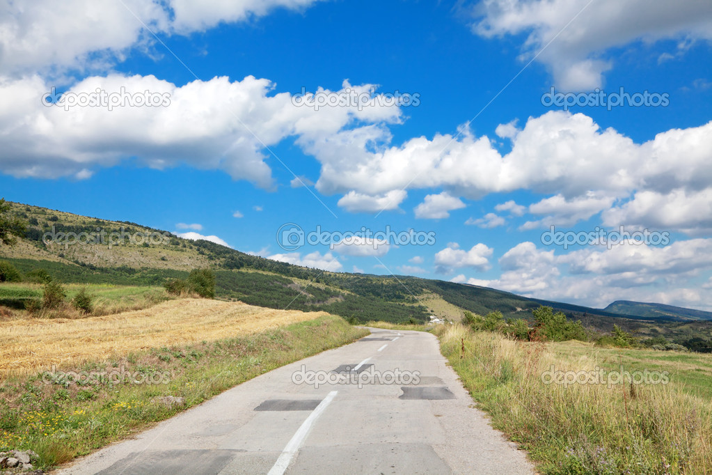 Old road at Balkan Mountain (Stara Planina) National Park in Serbia Europe — Stock Photo #8903633