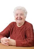 Smiling senior woman — Stock Photo
