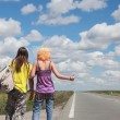 Stock Photo: Hitch hike