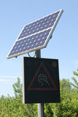 Solar powered sign — Stock Photo