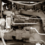 Tractor engine — Stock Photo
