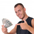 man with money — Stock Photo #9012445