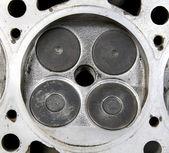 Seated valve in head — Stock Photo