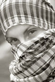 Girl with scarf — Stockfoto