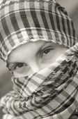 Girl with scarf — Stock Photo