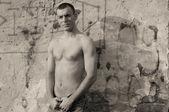 光膀子的男人 — 图库照片