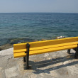 Yellow bench — Stock Photo