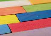 Chalk in closeup — Stock Photo