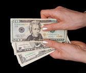 Money in hands — Stock Photo