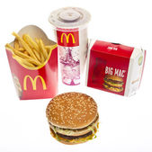 McDonalds Big Mac Menu — Stock Photo
