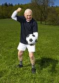 Senior football player — Zdjęcie stockowe
