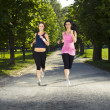 Royalty-Free Stock Photo: Two girls jogging