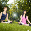 Stock Photo: Girls meditating