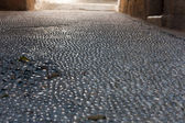Cobble stone street — Stock Photo
