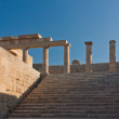 Stock Photo: Columns of Greek acropolis