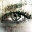 Stock Photo: Cybernetic eye.