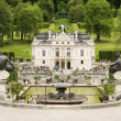 The fountain of castle Linderhof - Stock Photo