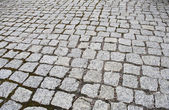 Street cobbled with granite — Stock Photo
