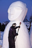 Snow Sculptor — Stock Photo