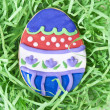 Easter Egg Cookie in Grass — Stock Photo