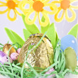 Foto Stock: Close-up of Easter Basket