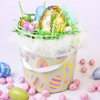 Stock Photo: Basket full of Easter Eggs