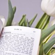 Easter Bible Verse and Tulips — Stock Photo #9628336
