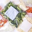 Stock Photo: Chopped Vegetables and Cheese in Freezer Bags