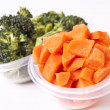 Stock Photo: Chopped Vegetables in Plastic Container