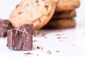 Chocolate Chip Cookies with Chocolate Pieces — Stock Photo
