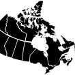Royalty-Free Stock Vector Image: Detailed Map of Canadian Territories