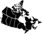 Detailed Map of Canadian Territories — Stock Vector