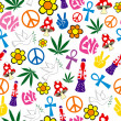 Seamless 60s icons background — Stockvector #8995553