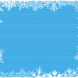 Blue Striped Snowflake Background — Stock Vector