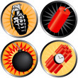 Icons that go BOOM! — Stock Vector