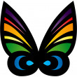 Colorful Stylized Butterfly — Stock Vector